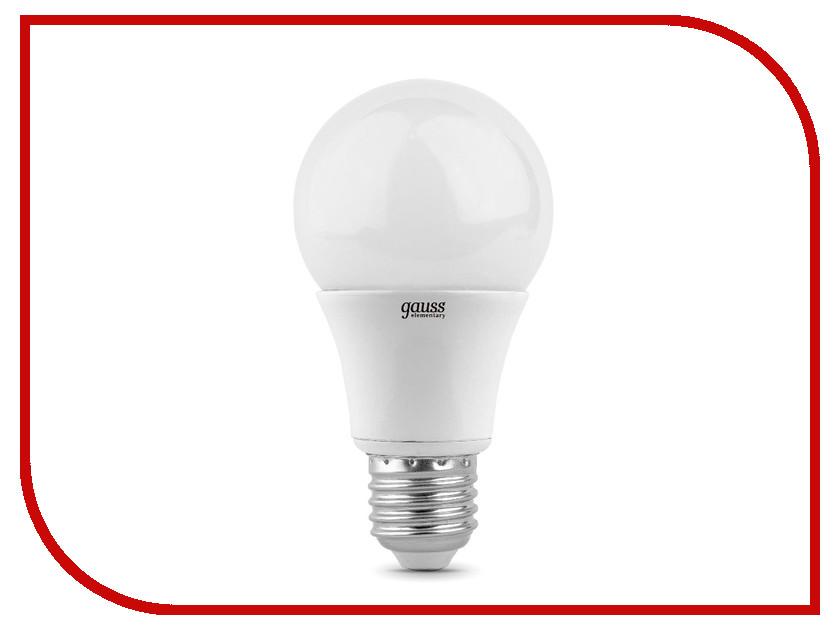 Лампочка Gauss Elementary LED E27 A60 10W 3000K 23210  - купить со скидкой