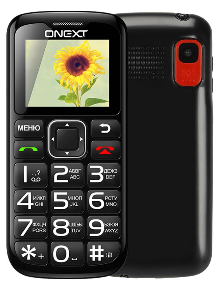 купить телефон самсунг галакси джи 1 2016 Сотовый телефон Onext Care-Phone 5 Black 71123