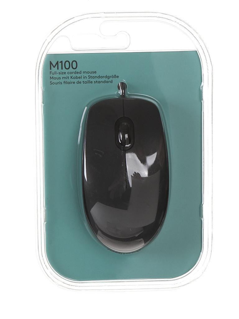 мышь logitech wireless mini mouse m187 red 910 002737 910 002732 Мышь Logitech M100 Black 910-001604 / 910-005003