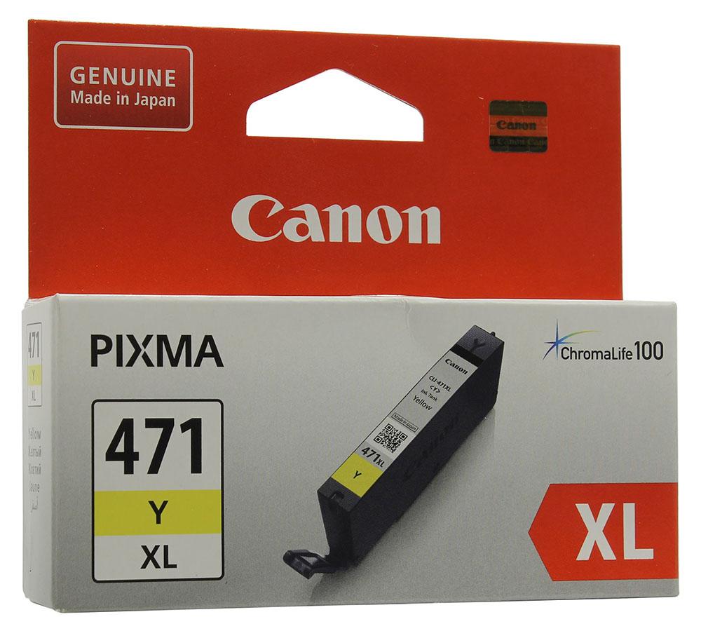 Картридж Canon CLI-471Y XL Yellow для MG5740/MG6840/MG7740 0349C001
