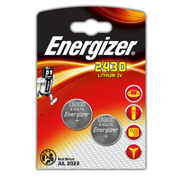 Батарейка CR2430 - Energizer Lithium 3V (2 штуки) E300830301 / 28768