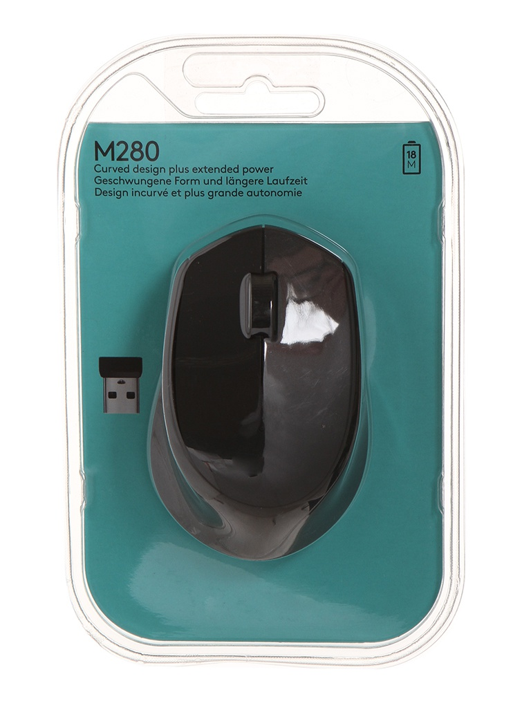 мышь logitech wireless mini mouse m187 red 910 002737 910 002732 Мышь Logitech M280 EWR Black 910-004287 / 910-004291