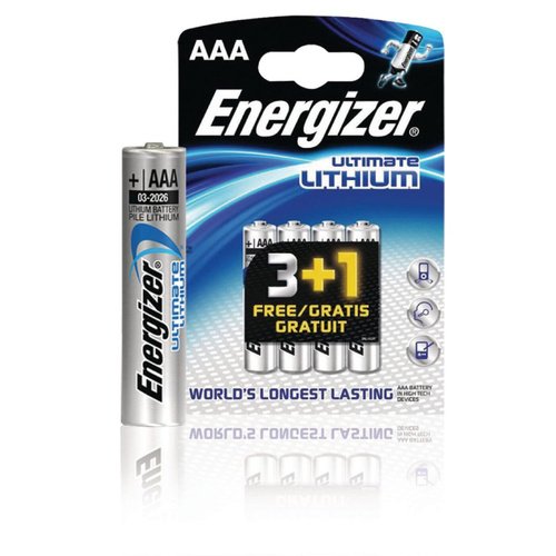 Батарейка AAA - Energizer Ultimate Lithium L92 FR03 (4 штуки) 639171 / 20525