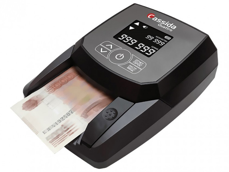 Детектор валют Cassida Quattro с АКБ