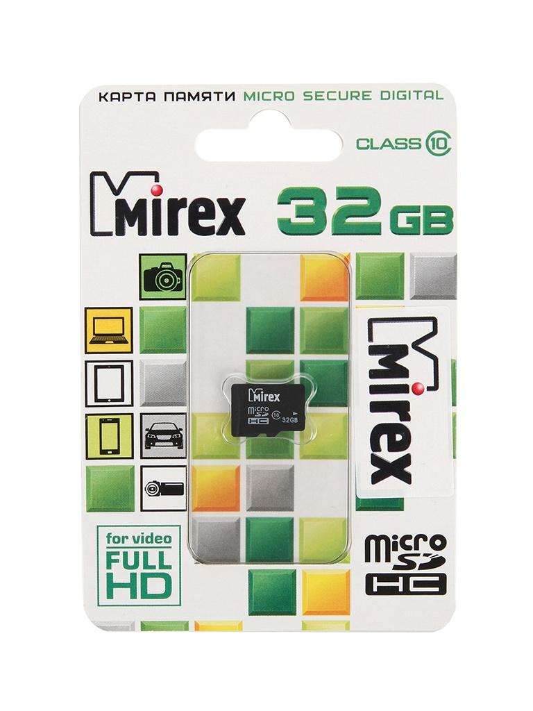 Фото - Карта памяти 32Gb - Mirex - Micro Secure Digital HC Class 10 13612-MC10SD32 карта памяти 8gb mirex micro secure digital hc class 10