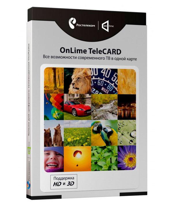 onlime card Комплект цифрового телевидения Ростелеком OnLime TeleCard