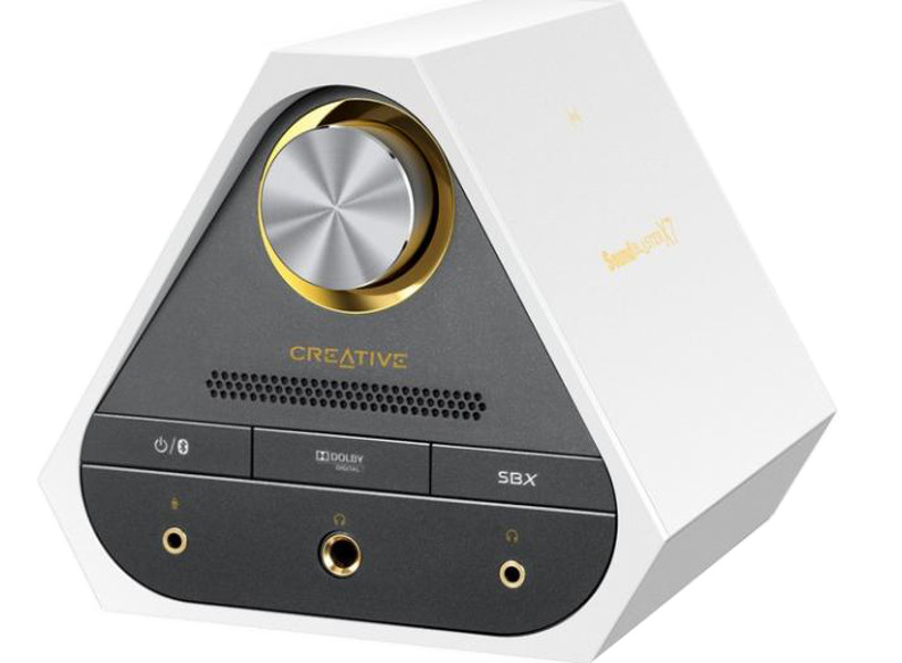 sound blaster x fi surround Звуковая карта Creative Sound Blaster X7 Limited Edition White 70SB158000003