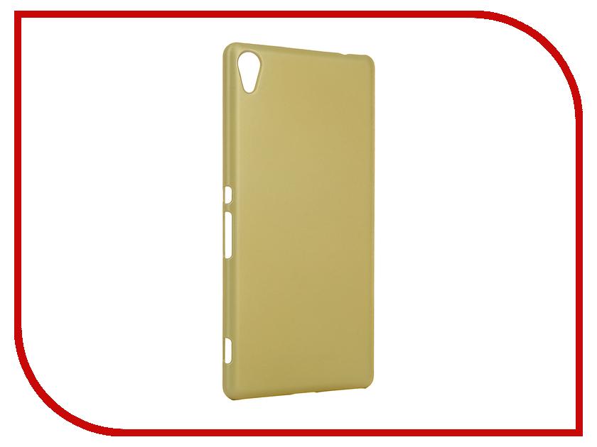 Купить Аксессуар Чехол Brosco для Sony Xperia XA Ultra Golden Lime XAU-SOFTTOUCH-GOLDLIME