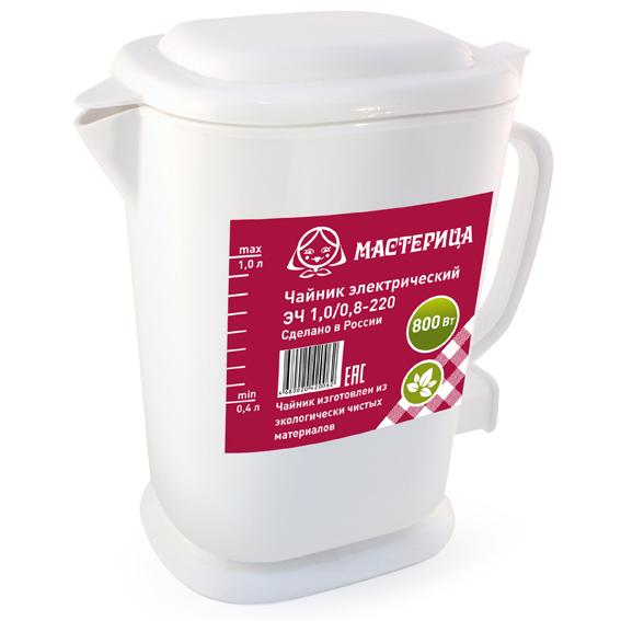 Чайник Мастерица ЭЧ-1.0/0.8-220Б 1L White чайник мастерица эч 1 0 0 8 220 белый
