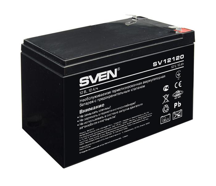 аккумулятор sven sv1290 Аккумулятор для ИБП Sven SV12120 12V 12Ah SV-0222012