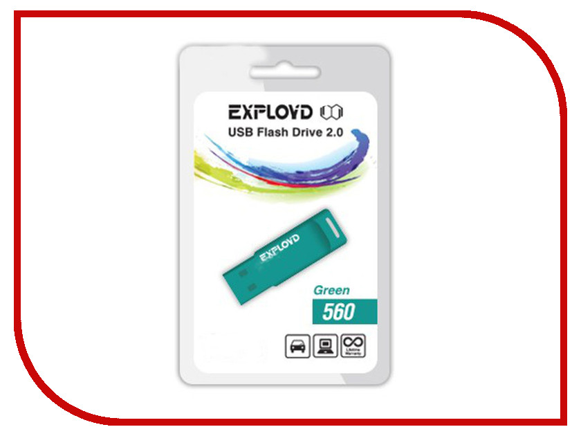 Купить USB Flash Drive 4Gb - Exployd 560 Green EX-4GB-560-Green, 560 EX-4GB-560-Green