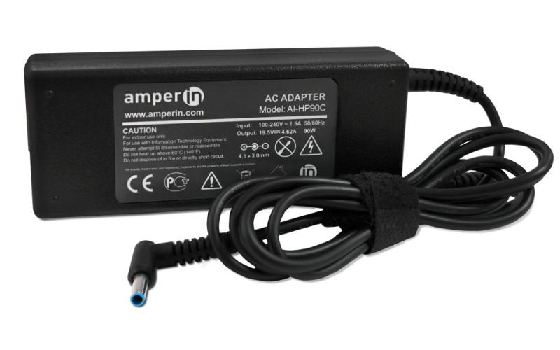 блок питания amperin ai hp90c для hp pavilion 15 e 15 n series hp 19 5v 4 62a 4 5x3 0mm 90w Блок питания Amperin AI-HP90C для HP Pavilion 15-e 15-n Series HP 19.5V 4.62A 4.5x3.0mm 90W