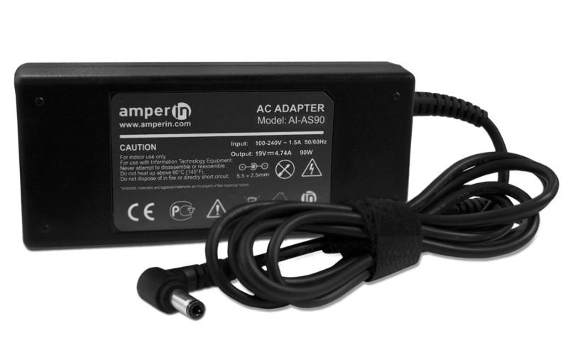 блок питания amperin ai hp90c для hp pavilion 15 e 15 n series hp 19 5v 4 62a 4 5x3 0mm 90w Блок питания Amperin AI-AS90 для ASUS 19V 4.74A 5.5x2.5mm 90W