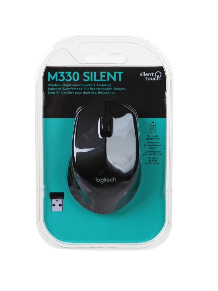 Мышь Logitech M330 Silent Plus Black 910-004909