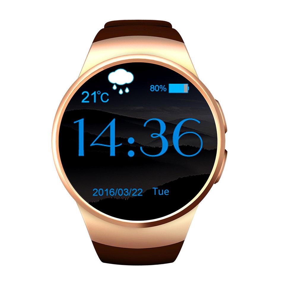 умные часы kingwear kw98 black Умные часы KingWear KW18 Gold
