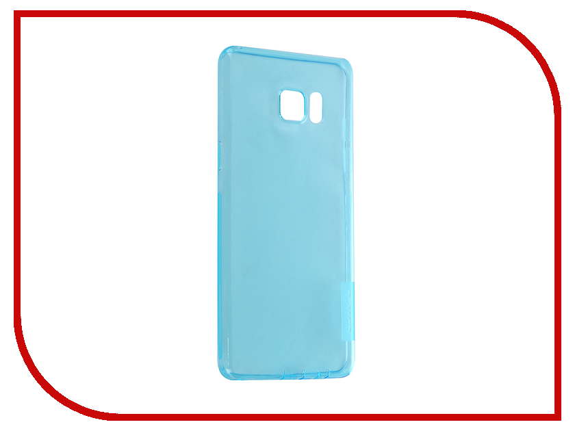 Купить Аксессуар Чехол Nillkin для Samsung Galaxy Note 7 Nature TPU 0.6mm Transparent-Light Blue 12430