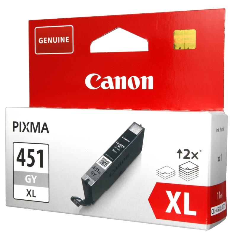 Картридж Canon CLI-451GY XL Grey 6476B001
