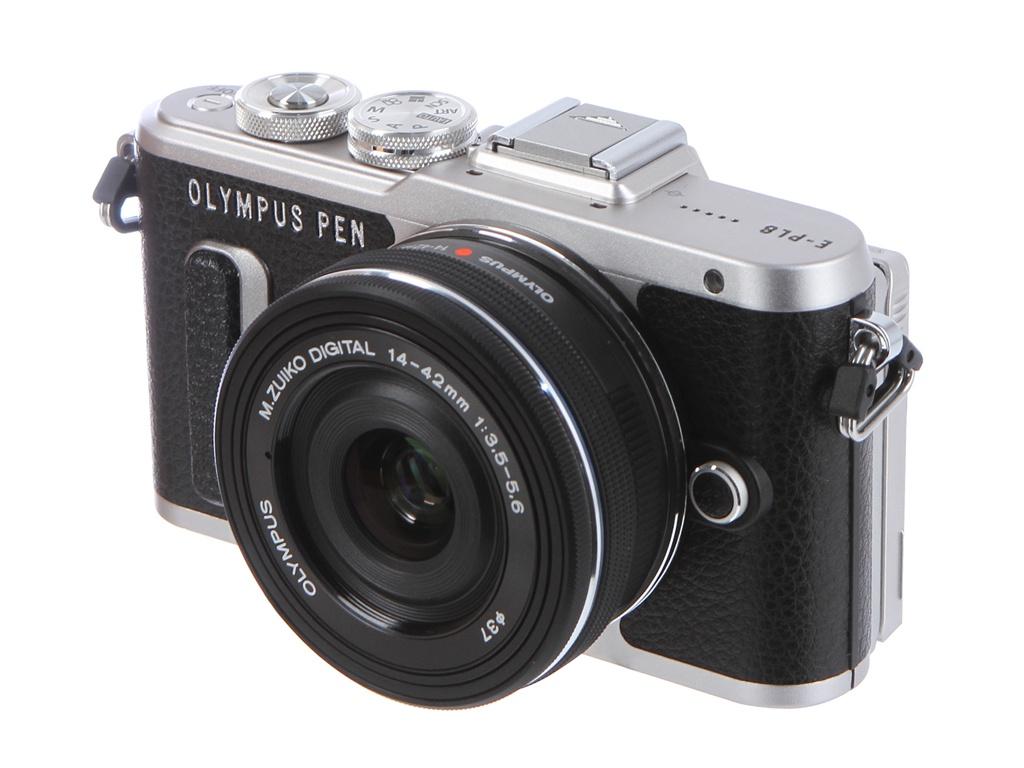 купить фотоаппарат olympus tg 3 Фотоаппарат Olympus PEN E-PL8 Kit 14-42 mm EZ-M1442EZ Black-Black
