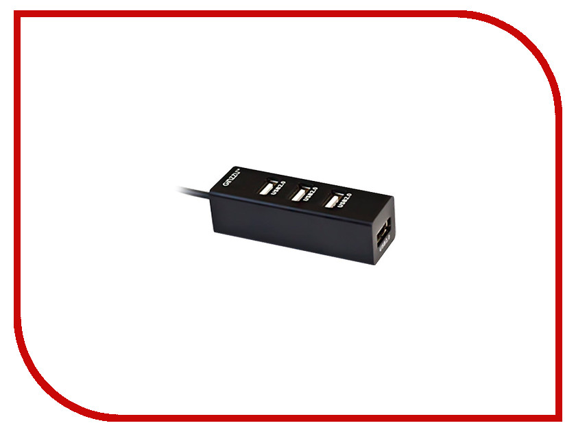 Купить Хаб USB Ginzzu GR-474UB 4-ports