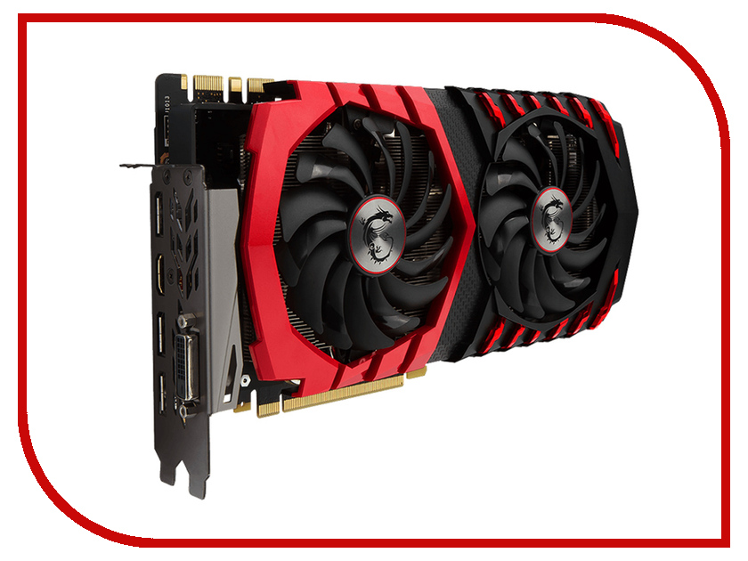 Видеокарта MSI GeForce GTX 1080 1632Mhz PCI-E 3.0 8192Mb 10010Mhz 256 bit DVI HDMI HDCP GAMING