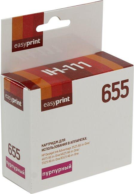 hp dj ink advantage 1115 Картридж EasyPrint IH-111 №655 Purple для HP Deskjet Ink Advantage 3525/4615/4625/5525/6525