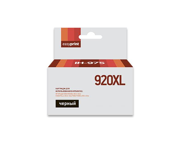 картридж hp 920xl officejet cd972ae cyan для 6000 6500 7000 Картридж EasyPrint IH-975 №920XL Black для HP Officejet 6000/6500A e-All-in-One/6500A Plus e-All-in-One/7000/7500A e-All-in-One