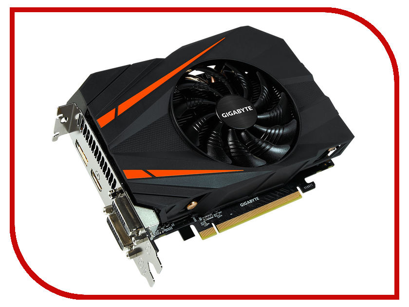 Купить Видеокарта GigaByte GeForce GTX 1060 1556Mhz PCI-E 3.0 3072Mb 8008Mhz 192 bit 2xDVI HDMI HDCP GV-N1060IXOC-3GD
