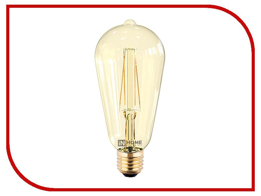 Купить Лампочка IN HOME LED-ST64-deco E27 7W 3000K 230V 630Lm Gold 4690612008097