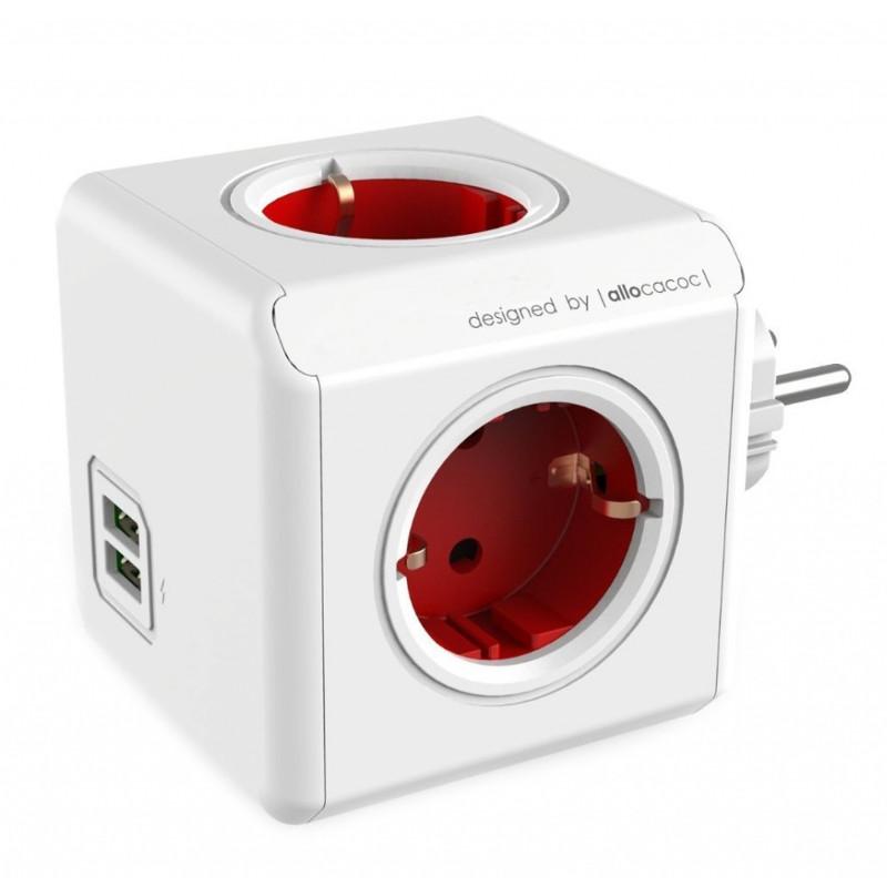 Разветвитель Allocacoc Original USB DE Red 1202RD/DEOUPC