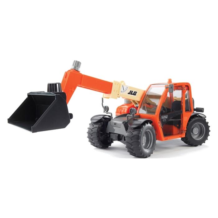 игрушка наша игрушка погрузчик вилочный 6655 7 Игрушка Bruder JLG 2505 Telehandler погрузчик колёсный с телескопическим ковшом 02-140