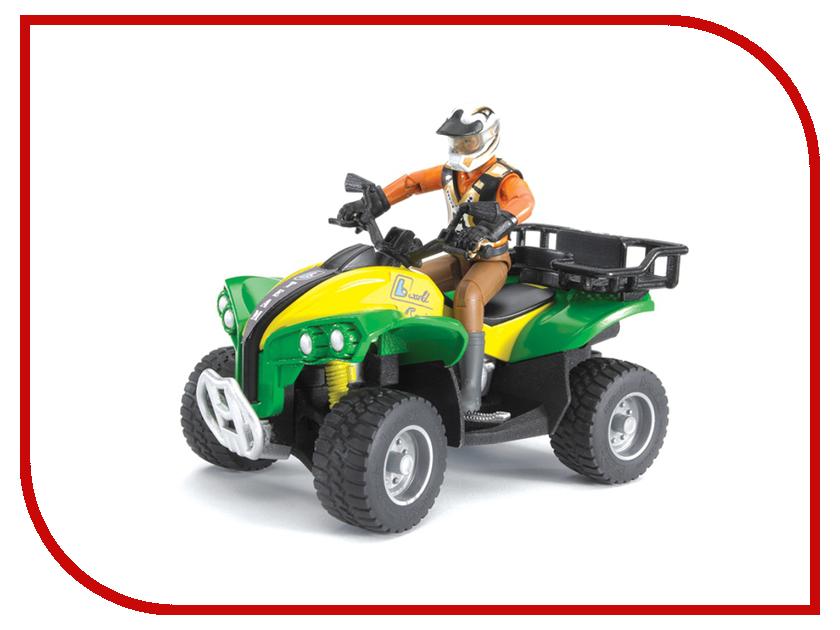 Купить Игрушка Bruder Квадроцикл с гонщиком 63-000, Германия