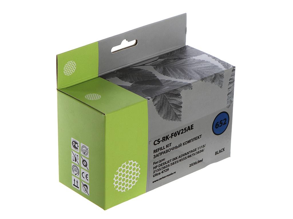 hp dj ink advantage 1115 Чернила Cactus CS-RK-F6V25AE Black для HP DeskJet Ink Advantage 1115/2135/3635/3835
