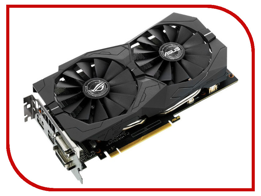 Видеокарта ASUS GeForce GTX 1050 1442Mhz PCI-E 3.0 2048Mb 7008Mhz 128 bit 2xDVI HDMI HDCP Strix OC Gaming STRIX-GTX1050-O2G-GAMING 90YV0AD0-M0NA00