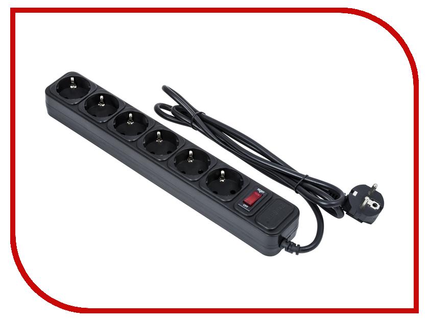 Купить Сетевой фильтр ExeGate 6 Sockets 1.8m Black SP-6-1.8B 119391