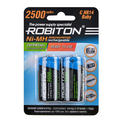 держатель prestige 2500 Аккумулятор C - Robiton C/HR14 2500 mAh RTU2500MHC BL2 14221 (2 штуки)
