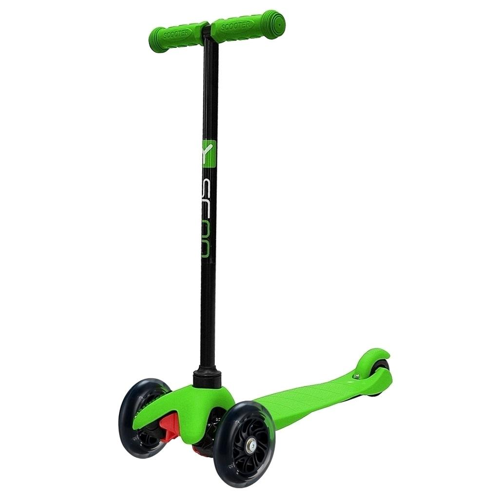 самокат larsen wave shine green Самокат Y-Scoo mini Shine A-5 Green со светящими колесами