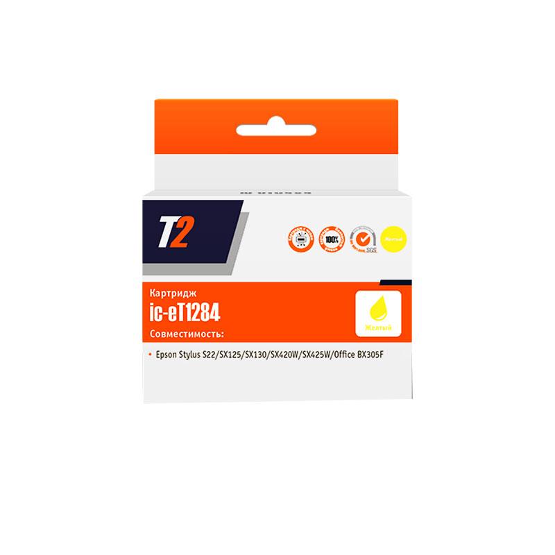 epson s22 купить Картридж T2 IC-ET1284 Yellow для Epson Stylus S22/SX125/SX130/SX230/SX420W/Office BX305F с чипом