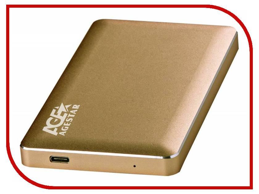 Купить Внешний корпус для HDD AgeStar 31UB2A16C Aluminium Gold