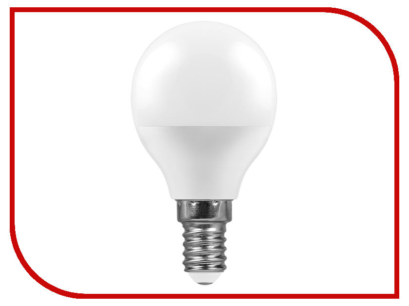 Купить Лампочка Feron LB-550 E14 9W 230V 6400K G45 25803