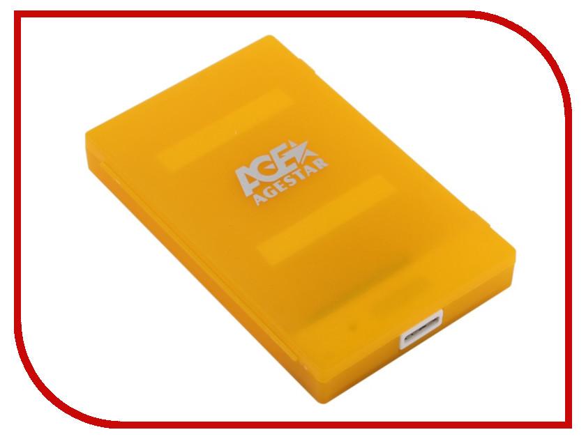 Купить Внешний корпус для HDD AgeStar 3UBCP1-6G USB3.0 SATA Orange