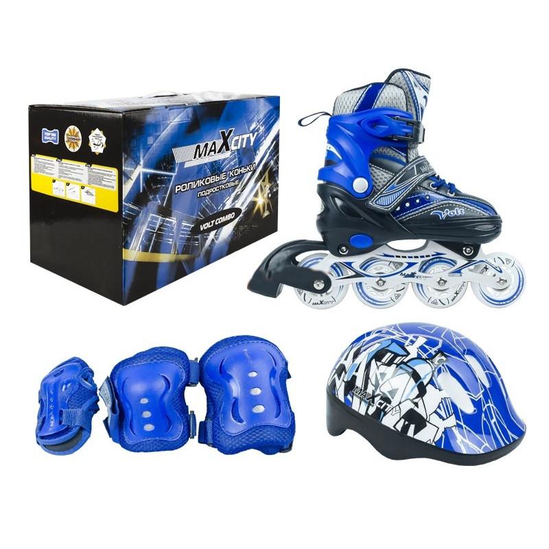 купить коньки граф Коньки Maxcity Volt Combo р.31-34 Blue