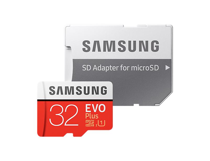 Фото - Карта памяти 32Gb - Samsung - Micro Secure Digital HC EVO Plus UHS-I Class 10 SAM-MB-MC32GARU с переходником под SD карта памяти 8gb perfeo micro secure digital hc class 10 pf8gmcsh10aes с переходником под sd