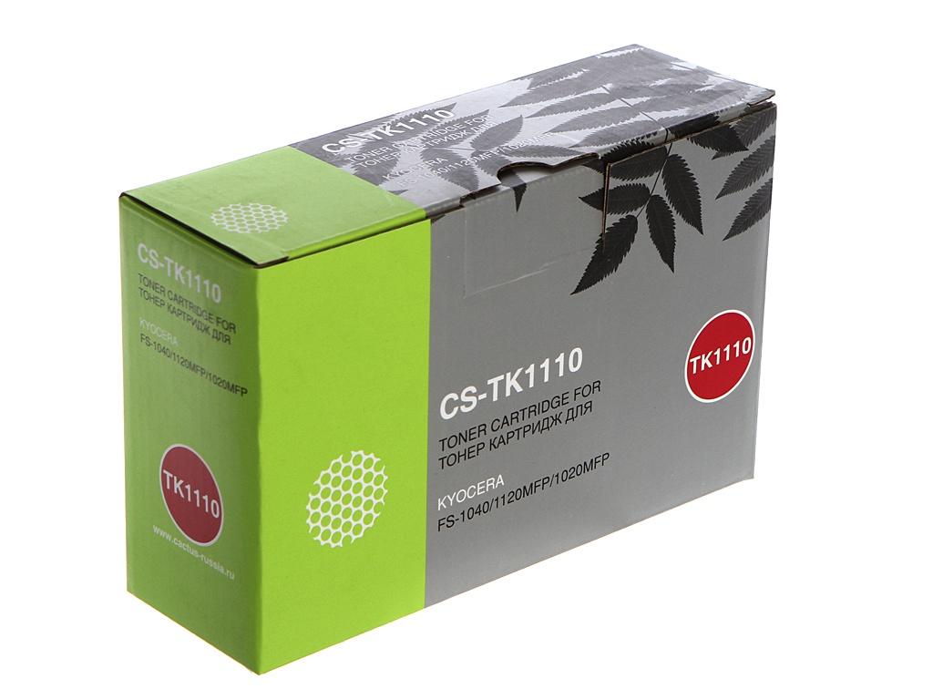 Картридж Cactus CS-TK1110BK Black для Kyocera FS 1020MFP/1040/1120MFP 2500стр