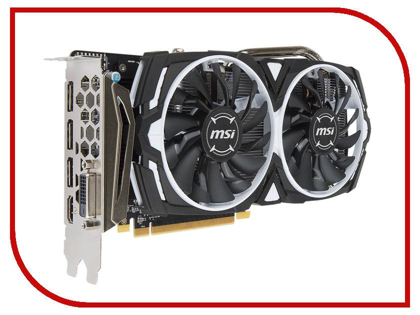 Видеокарта MSI Radeon RX 570 1268Mhz PCI-E 3.0 4096Mb 7000Mhz 256 bit DVI HDMI HDCP RX 570 ARMOR 4G OC