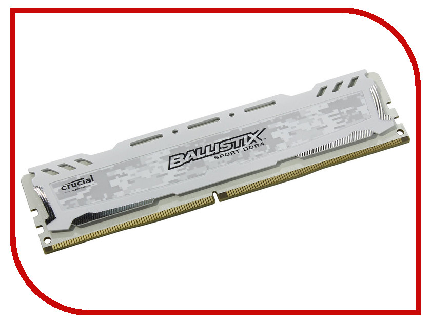 Купить Модуль памяти Crucial Ballistix Sport LT White DDR4 UDIMM 2666MHz PC4-21300 - 16Gb BLS16G4D26BFSC