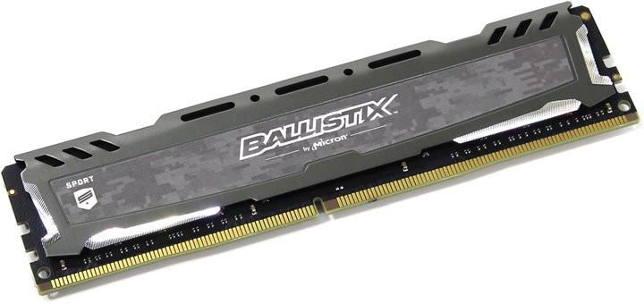 Купить Модуль памяти Crucial Ballistix Sport LT Gray DDR4 UDIMM 2666MHz PC4-21300 CL16 - 4Gb BLS4G4D26BFSB