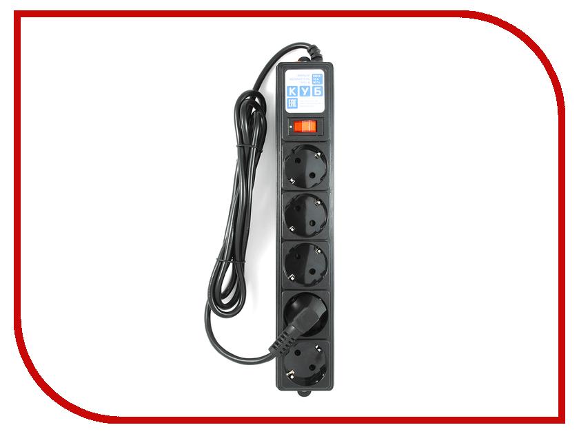 Купить Сетевой фильтр Power Cube 5 Sockets 1.9m Black SPG-B-6-BLACK, Power Cube SPG-B-6