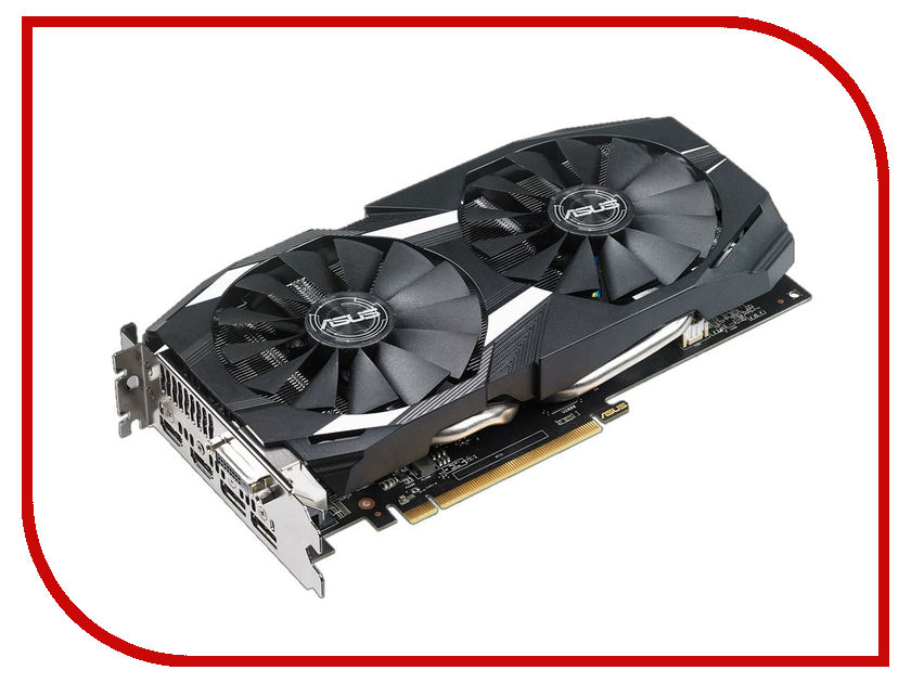 Купить Видеокарта ASUS AMD Radeon RX 580 1360Mhz 4096Mb 7000Mhz 256 bit DVI HDMIx2 HDCP DUAL-RX580-O4G