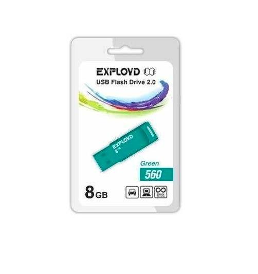 USB Flash Drive 8Gb - Exployd 560 EX-8GB-560-Green