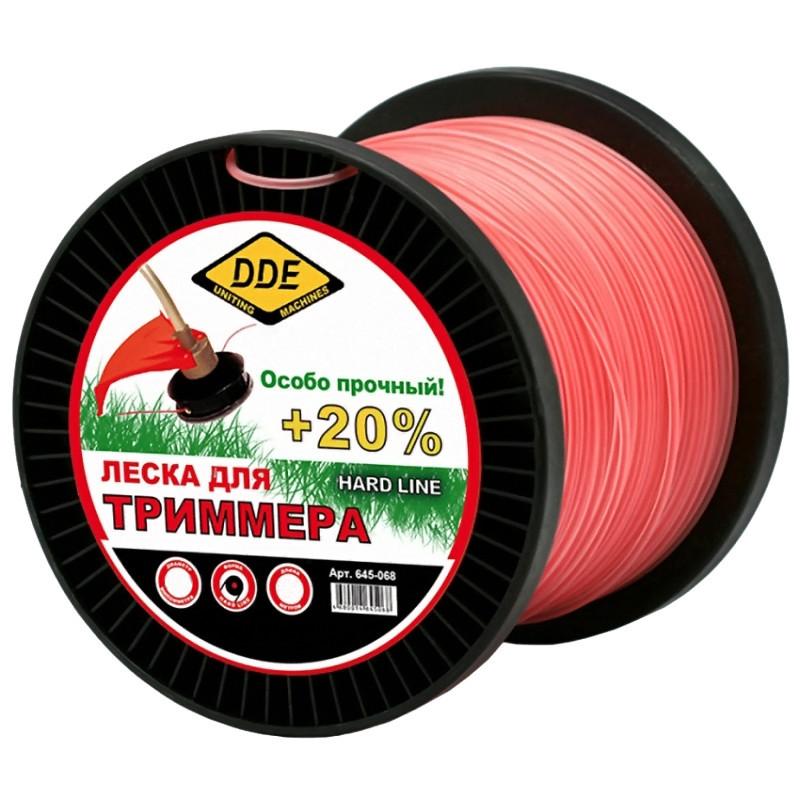 нож диск dde grass cut 241 413 Леска для триммера DDE Hard Line 3.0mm x 120m Grey-Red 241-956